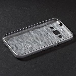 Brúsený gélový kryt pre Samsung Galaxy Core Prime - šedý - 6