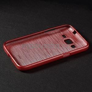 Brúsený gélový kryt pre Samsung Galaxy Core Prime - červený - 6