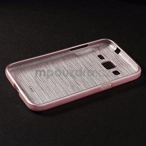 Brúsený gélový kryt pre Samsung Galaxy Core Prime - ružový - 6