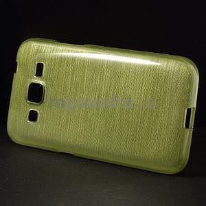 Broušený gelový kryt na Samsung Galaxy Core Prime - zelený - 6