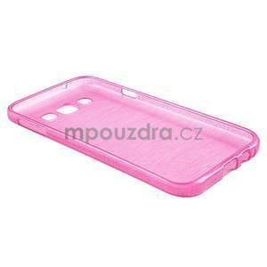 Broušené gélový kryt pre Samsung Galaxy E5 - rose - 6