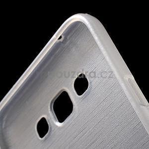 Broušený gélový obal pre Samsung Galaxy E7 - biely - 6