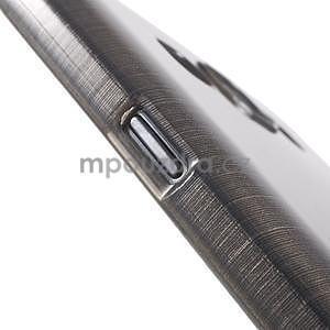 Broušený gélový obal pre Samsung Galaxy E7 - šedý - 6