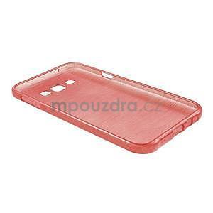 Brúsený gélový obal pre Samsung Galaxy E7 - červený - 6