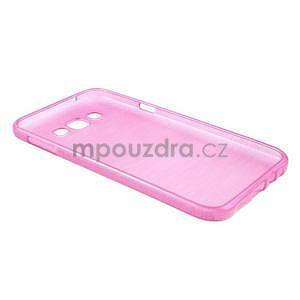 Broušený gélový obal pre Samsung Galaxy E7 - rose - 6