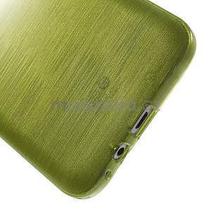 Broušený gélový obal pre Samsung Galaxy E7 - zelený - 6