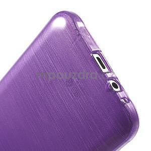 Brúsený gélový obal pre Samsung Galaxy E7 - fialový - 6