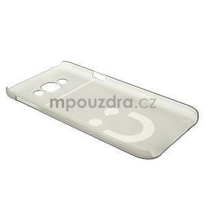 Plastový kryt na mobil Samsung Galaxy E7 - šedý - 6