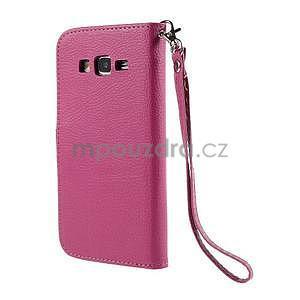 Rose/hnedé zapínací peňaženkové puzdro na Samsung Galaxy Grand Prime - 6