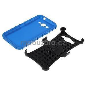 Vysoce odolný kryt so stojanom pre Samsung Galaxy Grand Prime - modrý - 6