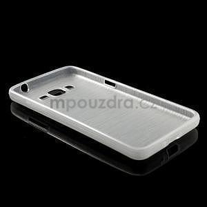 Broušený gélový obal pre Samsung Galaxy Grand Prime -  biely - 6