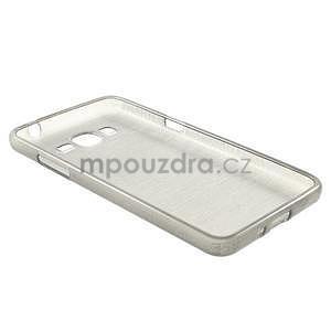 Broušený gélový obal pre Samsung Galaxy Grand Prime - šedý - 6