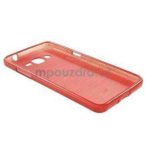 Broušený gélový obal pre Samsung Galaxy Grand Prime - červený - 6