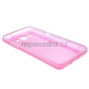 Broušený gélový obal pre Samsung Galaxy Grand Prime - rose - 6