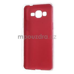 Ultratenký kožený kryt pre Samsung Grand Prime - červený - 6