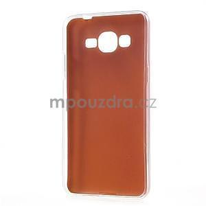 Ultratenký kožený kryt na Samsung Grand Prime - oranžový - 6