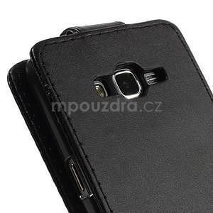 Čierné flipové puzdro pre Samsung Galaxy Grand Prime - 6