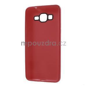 Tenký pogumovaný obal na Samsung Galaxy Grand Prime - červený - 6