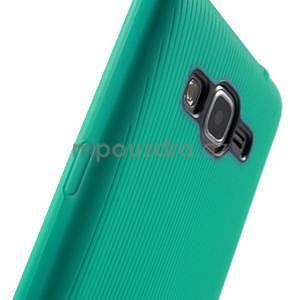 Tenký pogumovaný obal na Samsung Galaxy Grand Prime - cyan - 6