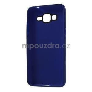 Tenký pogumovaný obal na Samsung Galaxy Grand Prime - tmavě modrý - 6