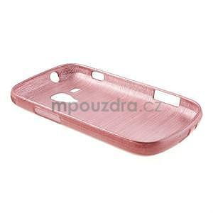 Broušený gélový kryt na Samsung Galaxy S Duos - růžový - 6