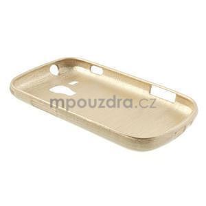 Broušený gélový kryt na Samsung Galaxy S Duos - zlatý - 6