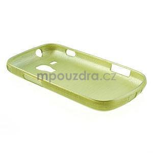 Broušený gélový kryt na Samsung Galaxy S Duos - zeleno žltý - 6