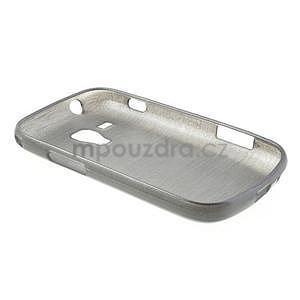 Broušený gélový kryt na Samsung Galaxy S Duos - šedý - 6