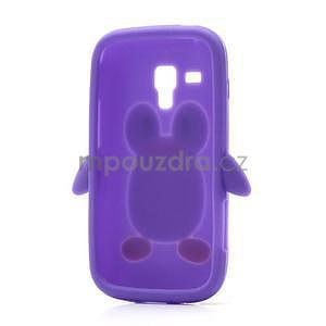 Silikonový obal tučniak pre Samsung Galaxy S Duos - fialový - 6