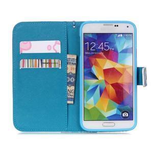 Knížkové PU kožené puzdro pre Samsung Galaxy S5 - snežný muž - 6