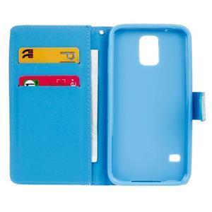 Knížkové PU kožené puzdro pre Samsung Galaxy S5 - California - 6