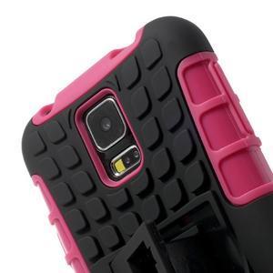 Outdoor odolný kryt pre mobil Samsung Galaxy S5 - rose - 6