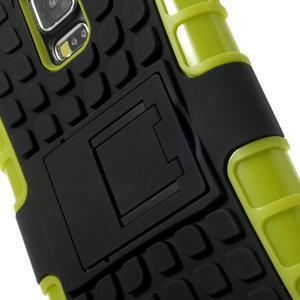 Outdoor odolný kryt pre mobil Samsung Galaxy S5 - zelený - 6