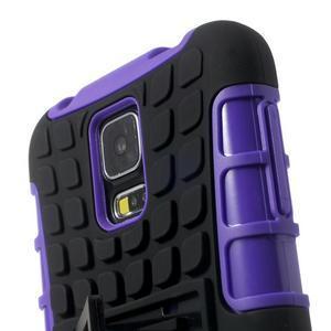 Outdoor odolný kryt pre mobil Samsung Galaxy S5 - fialový - 6