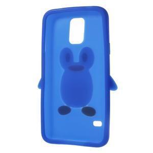 Penguin silikonový obal na Samsung Galaxy S5 - modrý - 6