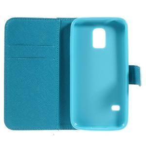 Emotive PU kožené puzdro pre Samsung Galaxy S5 mini - farebné kvety - 6