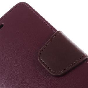 Sonata PU kožené pouzdro na Samsung Galaxy S5 mini - vínové - 6