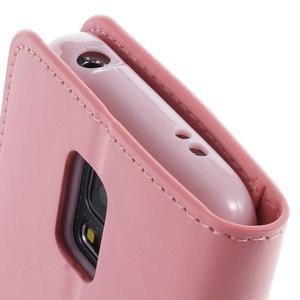 Sonata PU kožené pouzdro na Samsung Galaxy S5 mini - růžové - 6