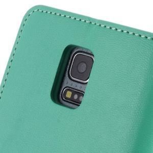Sonata PU kožené pouzdro na Samsung Galaxy S5 mini - azurové - 6