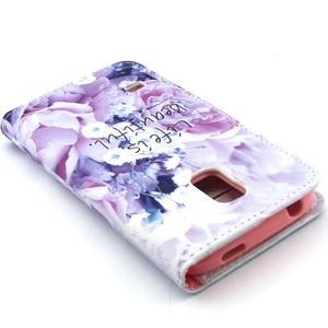 Peňaženkové puzdro pre mobil Samsung Galaxy S5 mini -  kvety - 6