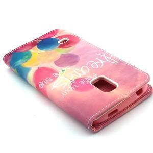 Peňaženkové puzdro pre mobil Samsung Galaxy S5 mini - balónky - 6