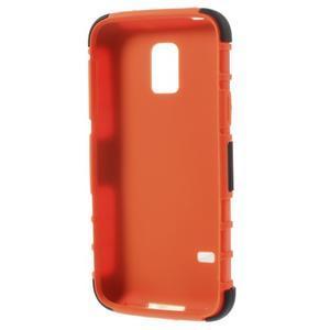 Outdoor odolný obal pre mobil Samsung Galaxy S5 mini - oranžový - 6