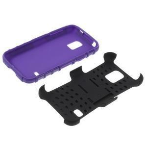 Outdoor odolný obal pre mobil Samsung Galaxy S5 mini - fialový - 6