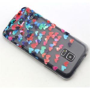 Transparentní gelový obal na mobil Samsung Galaxy S5 mini - srdíčka - 6