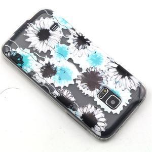 Transparentný gélový obal pre mobil Samsung Galaxy S5 mini - sedmikrásky - 6
