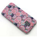 Transparentný gélový obal pre mobil Samsung Galaxy S5 mini - kvety a slony - 6/6