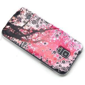 Transparentný gélový obal pre mobil Samsung Galaxy S5 mini - kvitnúca čerešňa - 6