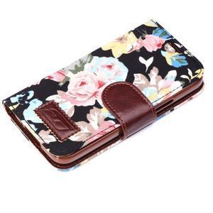 Květinové pouzdro na mobil Samsung Galaxy S5 mini - černé pozadí - 6