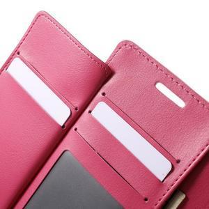 Richdiary PU kožené puzdro pre mobil Samsung Galaxy S6 Edge - ružové - 6