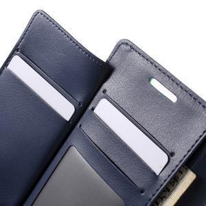 Richdiary PU kožené puzdro pre mobil Samsung Galaxy S6 Edge - azúrové - 6